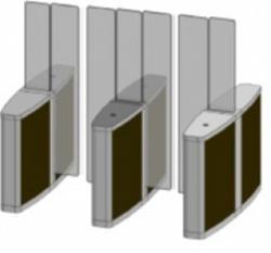 Проходная с прямоугольными стеклянными створками (левый модуль) Gunnebo SSFRNCLH180NL