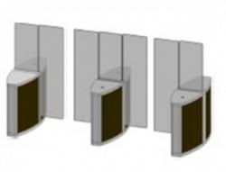Проходная с прямоугольными стеклянными створками (левый модуль) Gunnebo SSFRNOLH180NL