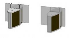 Проходная с прямоугольными стеклянными створками (комбинированный центральный модуль) Gunnebo SSFCNCLH120NS