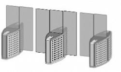Проходная с прямоугольными стеклянными створками (комбинированный центральный модуль) Gunnebo SMFCNORH180NS