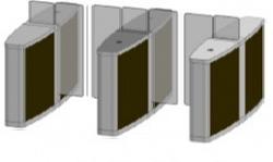 Проходная с прямоугольными стеклянными створками (левый модуль) Gunnebo SSFRNOLH120NL