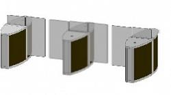 Проходная с прямоугольными стеклянными створками (центральный модуль) Gunnebo SSFRNCCE120NS