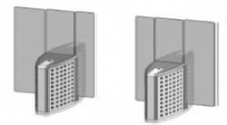 Проходная с прямоугольными стеклянными створками (комбинированный центральный модуль) Gunnebo SMFCNCLH180NL