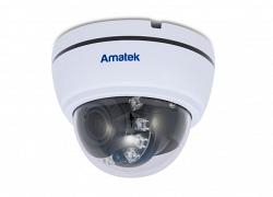 Купольная мультиформатная видеокамера Amatek AC-HD202VS  (2,8-12)