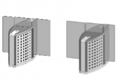 Проходная с прямоугольными стеклянными створками (комбинированный центральный модуль) Gunnebo SMFCNCRH120NS