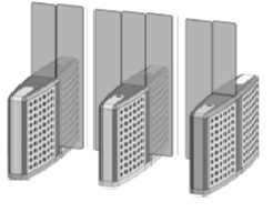 Проходная с прямоугольными стеклянными створками (левый модуль) Gunnebo SMFRNOLH180NL