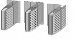 Проходная с прямоугольными стеклянными створками (центральный модуль) Gunnebo SMFRNCCE120NL