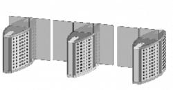 Проходная с прямоугольными стеклянными створками (центральный модуль) Gunnebo SMFRNOCE120NL