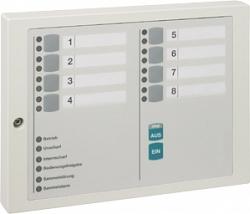Блок индикации и блокировки на 8 групп детекторов Honeywell 012532.17