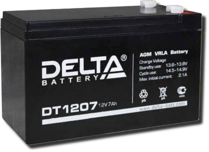 Аккумулятор герметичный свинцово-кислотный Delta DT 1207