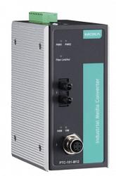 Медиаконвертер Ethernet MOXA PTC-101-M12-S-ST-LV-T
