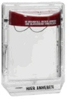 Прозрачный защитный кожух с откидной крышкой для больших РПИ - Esser 781694
