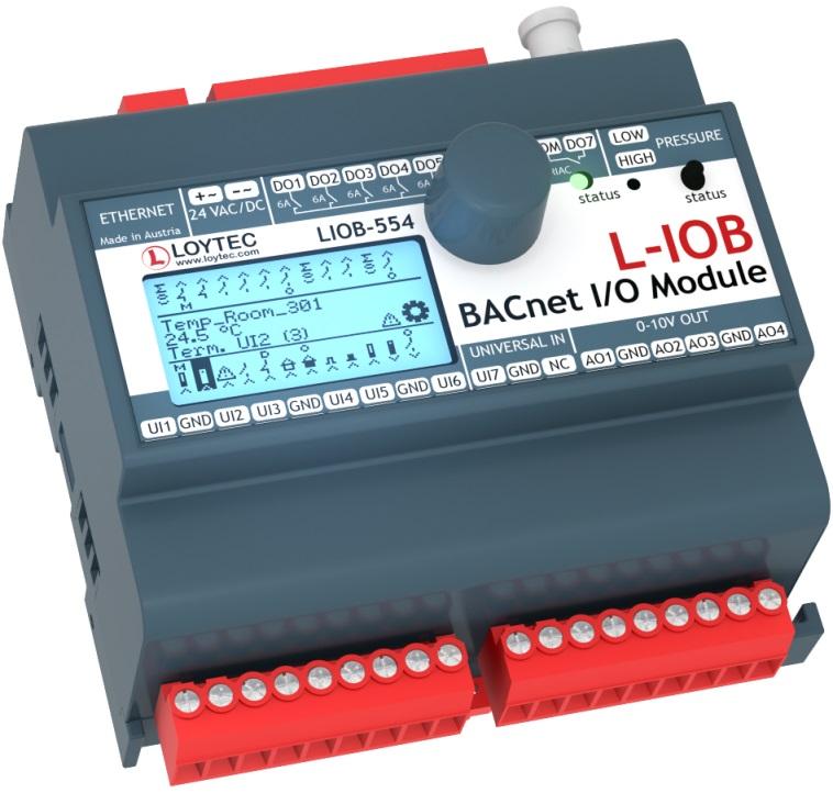Модуль I/ O BACnet/ IP с физическими входами и выходами LIOB-554