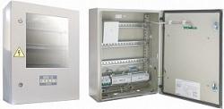"""Шкаф для установки приборов системы """"Орион"""" на DIN рейки. Содержит источник питания 12В - 3 А с интерфейсом RS-485. Болид ШПС-12 исп.01"""