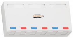 Корпус настенной розетки NIKOMAX NMC-MB6P-ST-WT