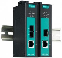 Медиаконвертер Gigabit Ethernet MOXA IMC-21GA-LX-SC-T