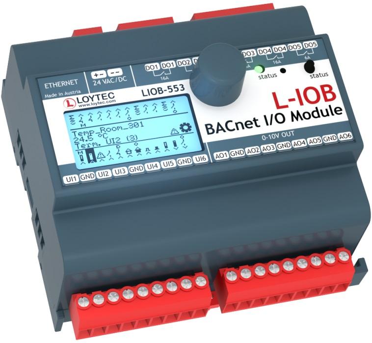 Модуль I/ O BACnet/ IP с физическими входами и выходами LIOB-553