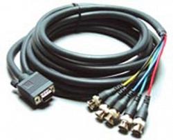 Переходный мониторный кабель VGA (HD15) Вилка на 5 BNC (Розетки) C-GM/5BF-1