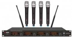 VOLTA US-4X (725.80/622.665/520.10/490.21) Микрофонная радиосистема с двумя ручными и двумя головными микрофонами