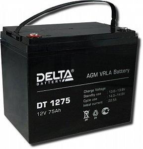 Аккумулятор 12 В, 75 Ач DT 1275 Delta