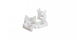Основание NIKOMAX для стяжек, с крепежным отверстием 4,5мм под шуруп, размер 22х16мм NMC-TMS45-WT-100