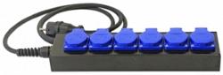 Блок розеток IMLIGHT BRS-6, H07RN-F 3G1,5, 20м, C14