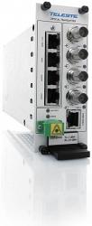 Четырехканальный приёмник видео-аудио-данных Teleste CRR461