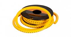 """Маркер NIKOMAX кабельный, трубчатый, эластичный, под кабели 3,6-7,4мм, буква """"F"""" NMC-CMR-F-YL-500"""