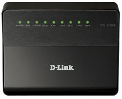 Беспроводной маршрутизатор ADSL2+ D-Link DSL-2740U/B