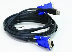 Кабель KVM для подключения клавиатуры, мыши и монитора D-link DKVM-CU3