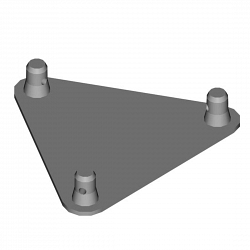 Металлическая конструкция Dura Truss DT 33 PLB  Base plate with halfconnectors male