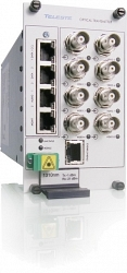 Восьмиканальный приёмник видео-данных-контактов Teleste CRR861