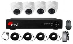 Комплект видеонаблюдения ESVI EVK-X4-DLH10B